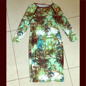 Philosophy print midi dress. Size: S